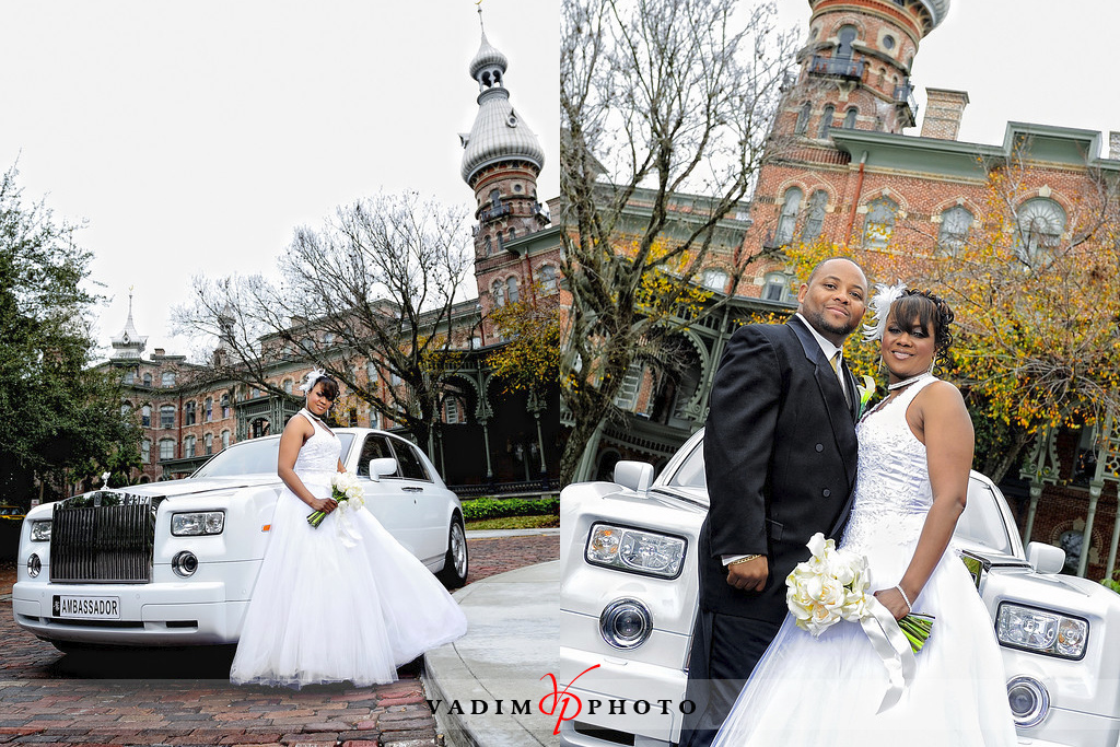 University of Tampa Wedding Photos - Regina &amp; BW